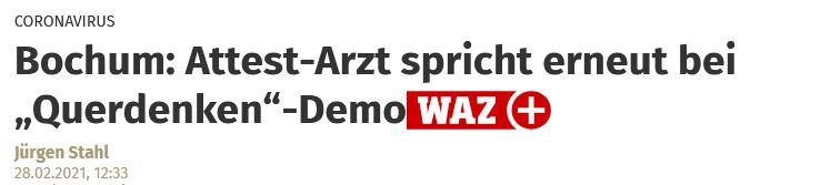 Bochum: Attest-Arzt spricht erneut auf